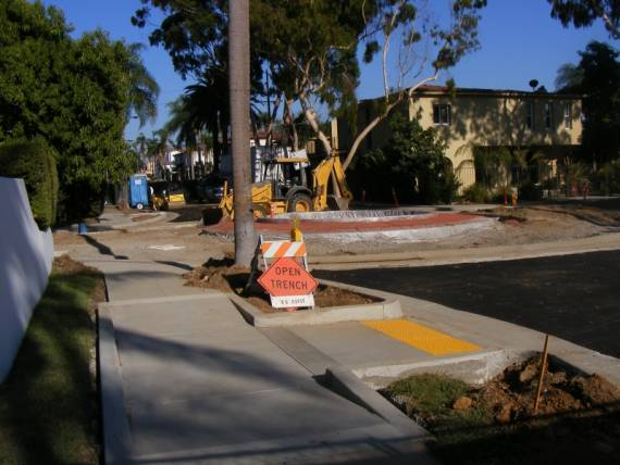 Constructing a new traffic circle, Vista at Park