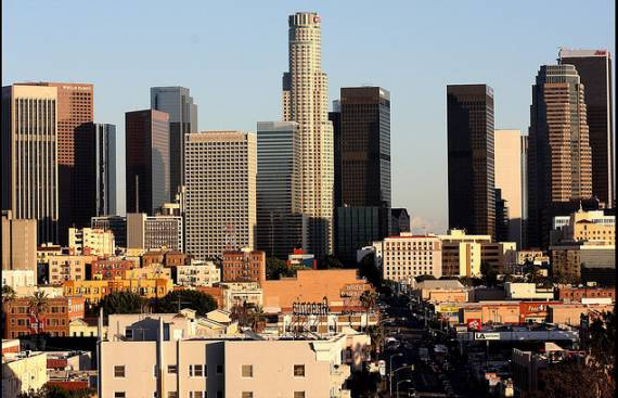 Downtown L.A. as seen from Westlake.  Photo ##