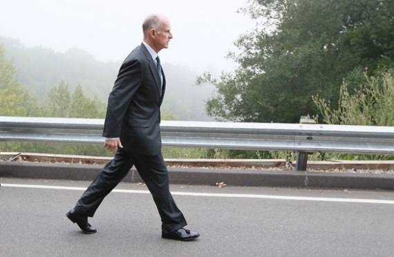 Polls show that Brown is walking towards a second stint as governor.  Photo:##http://cnn.com##CNN##