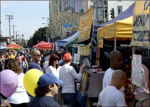 The Hollywood Farmer's Market in March, 2007.  Photo:##http://www.bunrab.com/dailyfeed/2007March/dailyfeed_march-07_p1.html#030407##Daily Feed##
