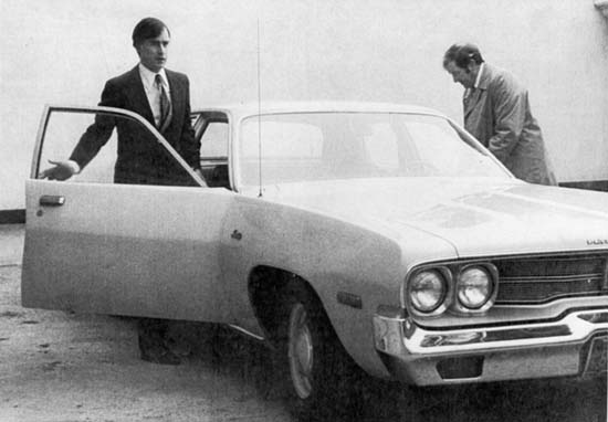 Brown famously gave up the Govenor's limousine in the 1970's and today.  Here he's caught getting in his 1974 Plymouth Satellite.  Photo: ##http://www.thetruthaboutcars.com/2010/11/ahmadinejads-peugeot-504-not-as-cool-as-ho-chi-minhs-404-but-still-cool/##Truth About Cars##