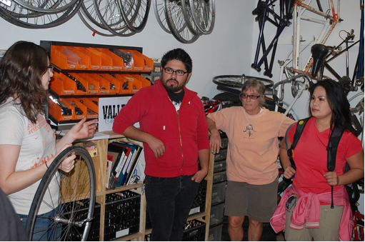 Ayla leads a bike maintenance workshop and the Bikery's new home is open!