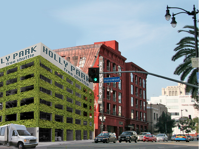 ##http://www.uglyangel.net/2011/01/wally-park-meet-holly-park.html##Ugly Angel proposes an off-site lot and free shuttle to keep the Hollywood nightlife from parking on residential streets.##