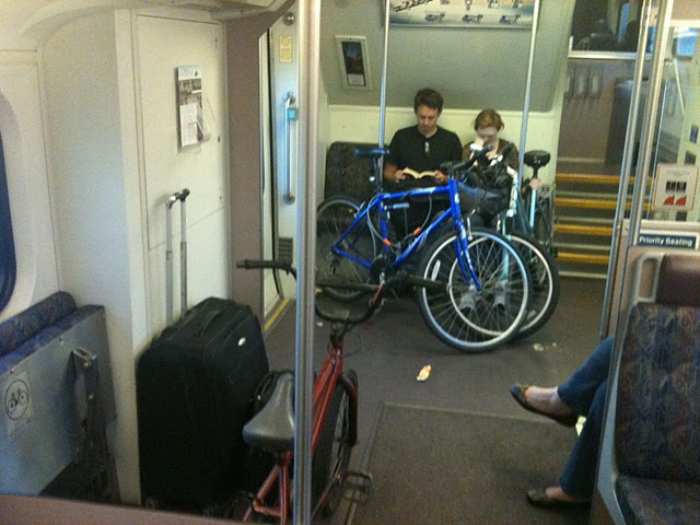 Bikes On Metrolink The older Metrolink cars have