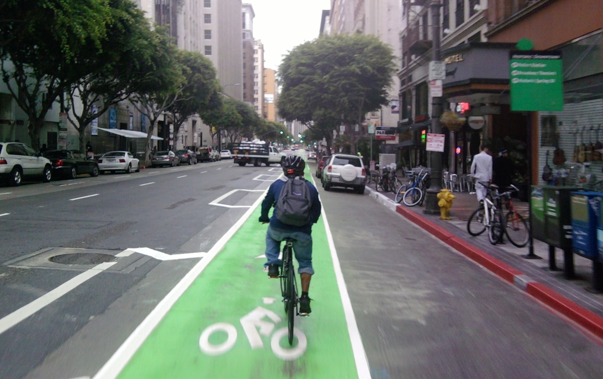 Bike San Francisco To Los Angeles Add a Green Buffered Bike Lane
