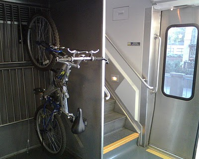 Bikes On Metrolink Bike on a Surfliner rack