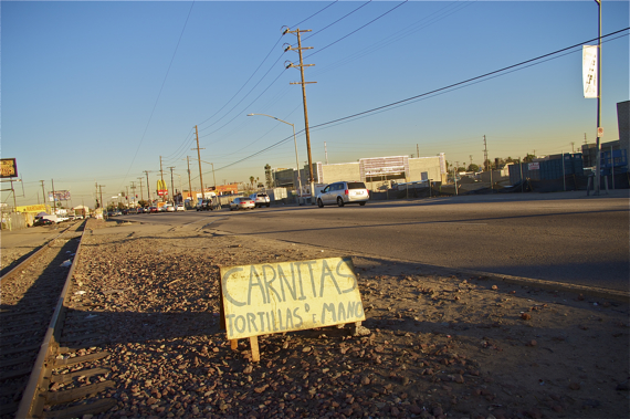 The Slauson corridor that runs through South L.A. is not as empty as we imagine. Sahra Sulaiman/LA Streetsblog