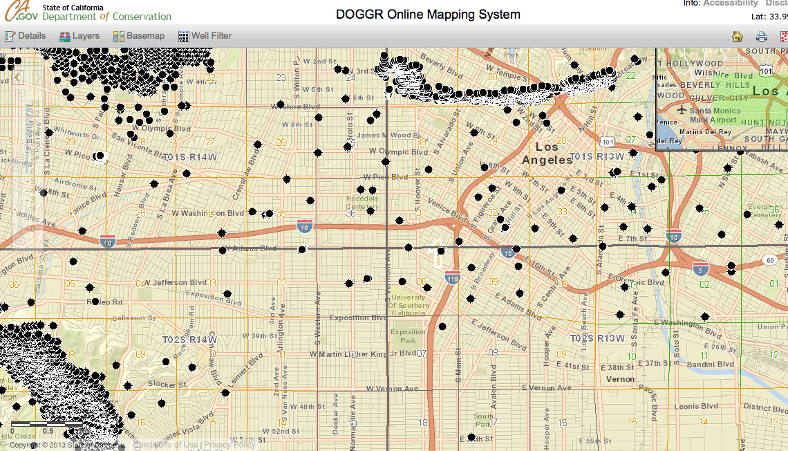 We Can Haz Oil. Screen shot of the Dept. of Conservation's map of oil wells. Available here.