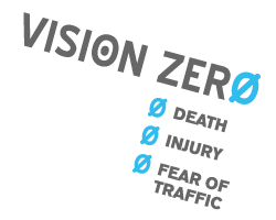In New York, ##http://transalt.org/issues/enforcement/visionzero##Transportation Alternatives## offers a simple explanation of Vision Zero.