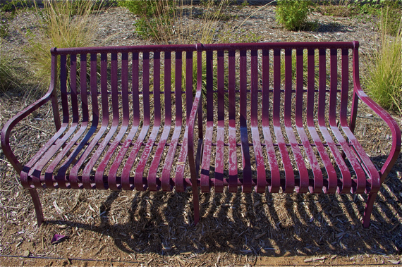 The park has been standing so long, it's furniture is starting to look worse for (no) wear. Sahra Sulaiman/LA Streetsblog