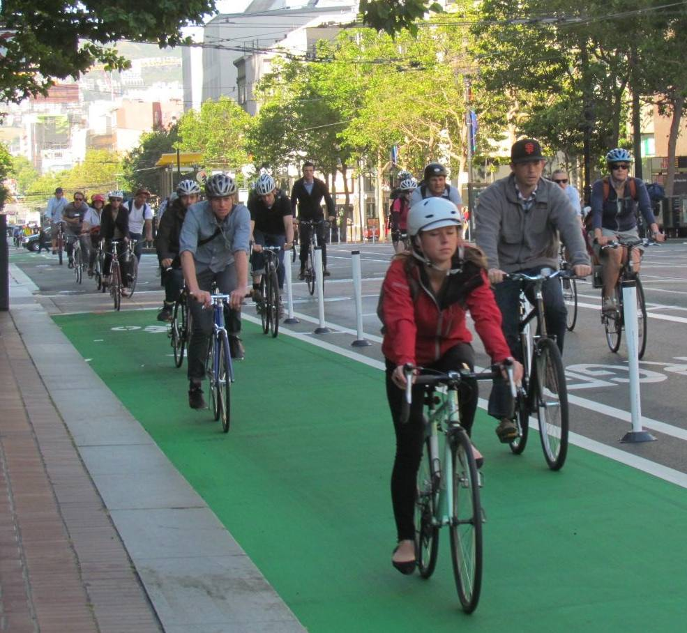 Bike San Francisco To Los Angeles Protected Bike Lane Bill