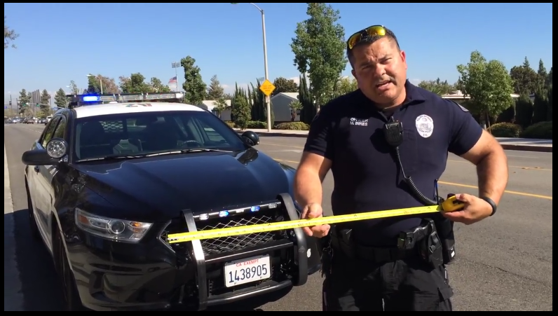 Video capture from city of Azusa Police Department video about California's
