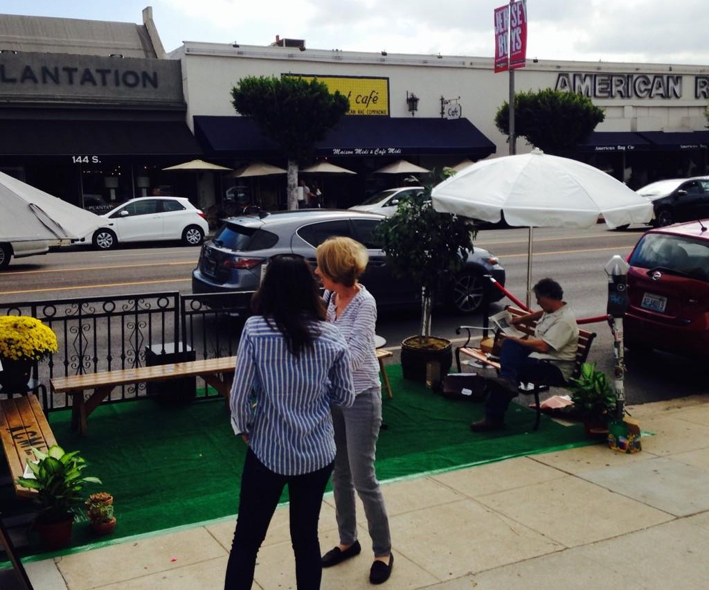 Park(ing) Day right now at Sycamore Kitchen on La Brea. Photo via Twitter