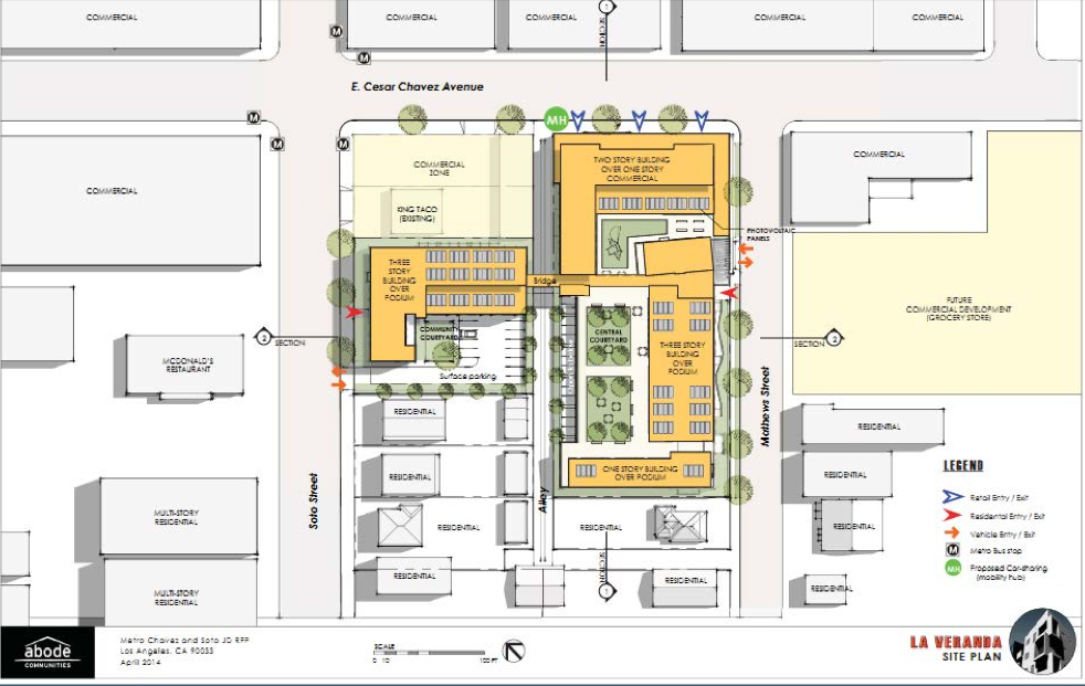 The development planned for Cesar Chavez/Soto. Source: Metro