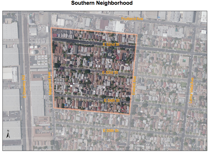 The Southern Assessment Area, located in Maywood. Source: DTSC