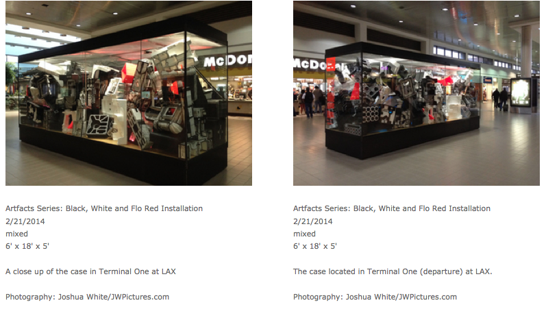 Jaime Scholnick's LAX installation. (Screen shot of her web page)