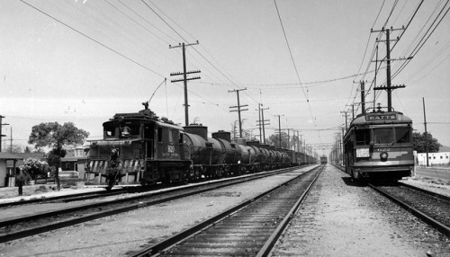L.A.'s Pacific Electric trains delivered freight in their days. Photo via Metro Library