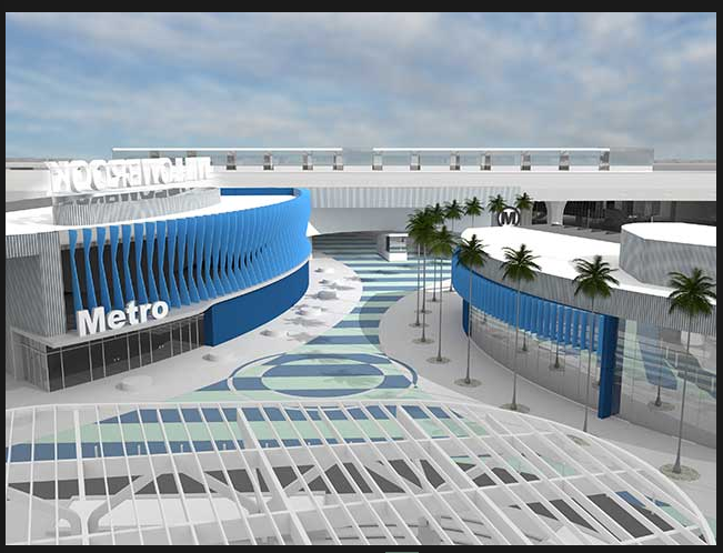 Rendering of the revamped Rosa Parks transit station at Watts/Willowbrook. (Source: JGM)