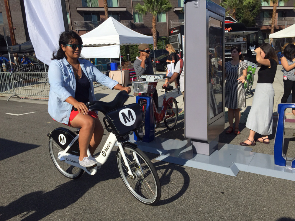 Can You Take Bikes On Dc Metro Metro bike share demo in DTLA