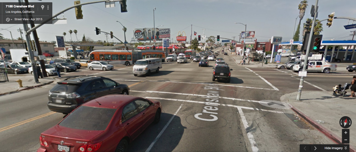 Google map screen shot of Florence and Crenshaw.