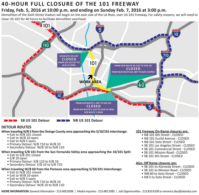 Click to visit the 6th St. Viaduct project page with specific closure information.
