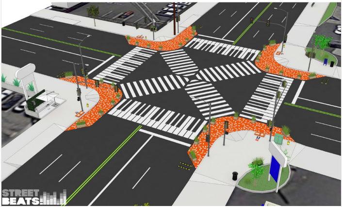 The rendering of the transformed intersection by Studio MMD.