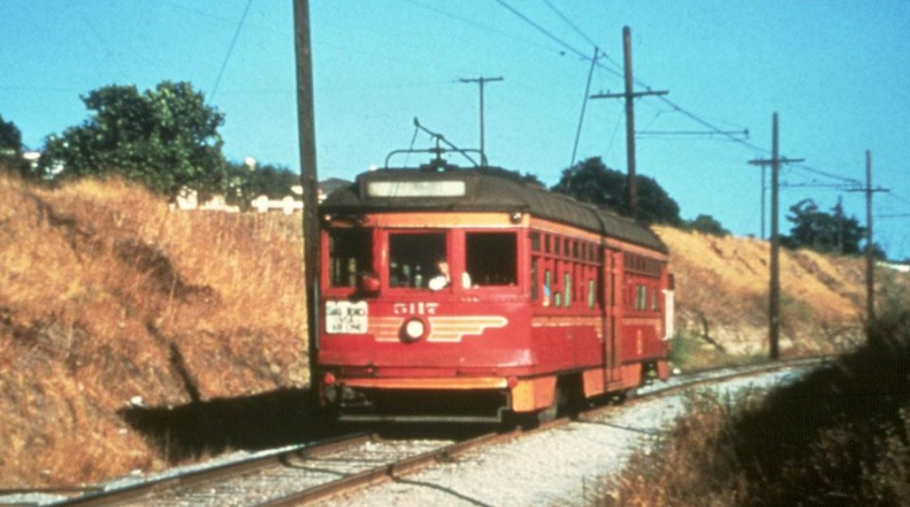 Historic Red Car on today's Expo Line. Photo via Friends for Expo