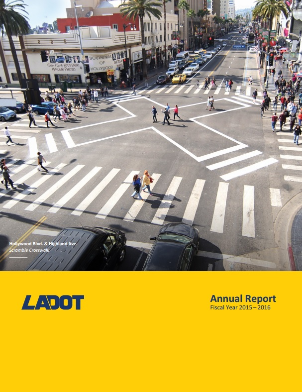 Cover of LADOT Annual Report Fiscal Year 2015-2016 [PDF]