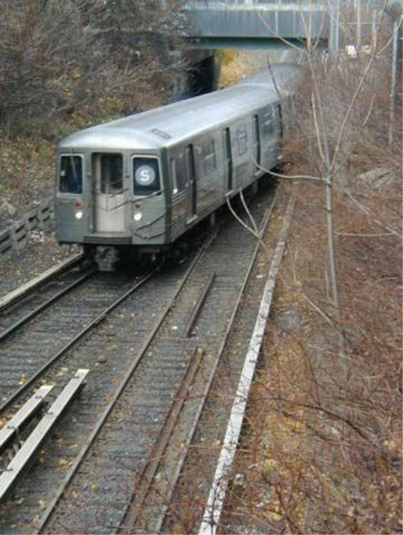 All subways, except in LA, run on the surface where ROW is available, just like this one in New York City.