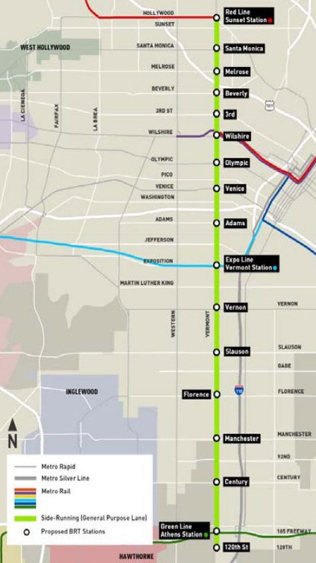 Metro Planning Vermont Avenue Bus Rapid Transit ... on south bay cities map, santa ana college map, downey map, pleasanton map, colorado map, norco map, east lake sammamish map, woodlake map, azusa map, whittier blvd map, north redondo beach map, elizabeth park map, santa monica bay map, angels flight map, fairfield map, skid row map, highland map, the forum map, glendora map, west covina map,