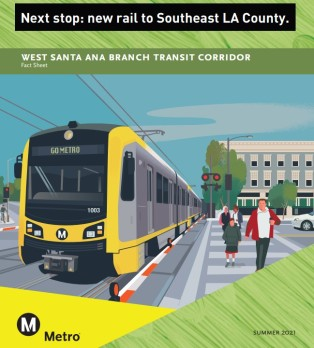 Metro Releases Draft Environmental Documents For West Santa Ana Branch Rail