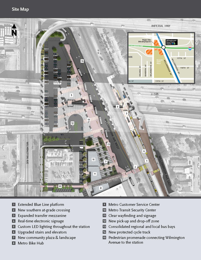 Metro Rosa Park Station project map - via Metro project page